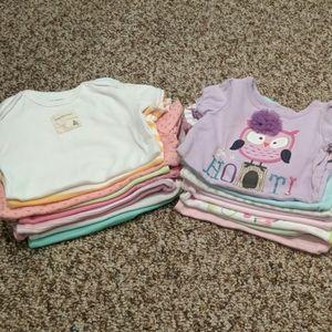 Bundle of baby onesies long/short sleeves